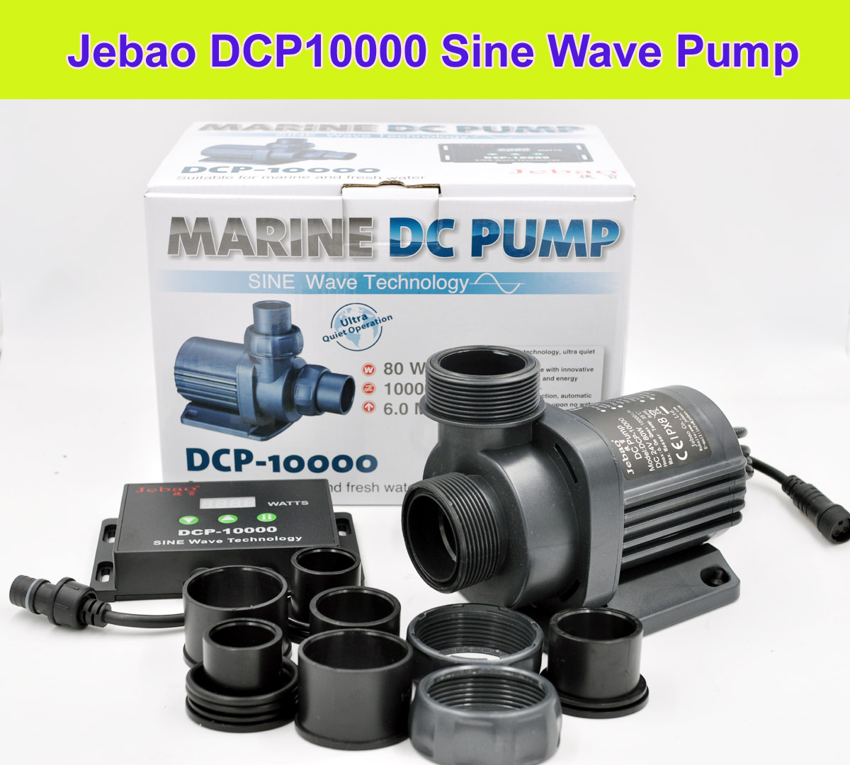 Fish & Aquariums Jebao Jecod Dcp Series Maring Dc Silent Wave Return Submersible Pump Controller
